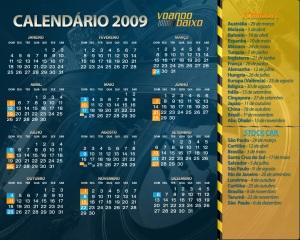 Calendário F1 2009