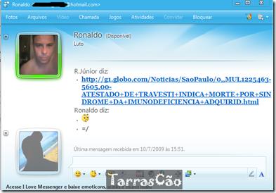 ronaldo msn luto por travesti